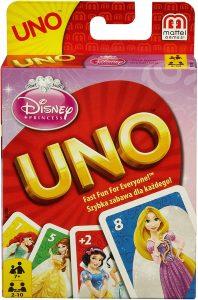 Juego de mesa de Uno Disney Princesas de Mattel - Los mejores juegos de mesa del UNO - Juego de mesa de cartas, el UNO