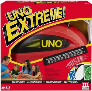 Juego de mesa de Uno Extreme de Mattel - Los mejores juegos de mesa del UNO - Juego de mesa de cartas, el UNO