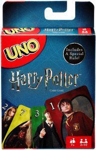 Juego de mesa de Uno Harry Potter de Mattel - Los mejores juegos de mesa del UNO - Juego de mesa de cartas, el UNO