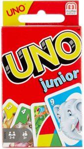 Juego de mesa de Uno Junior de Mattel - Los mejores juegos de mesa del UNO - Juego de mesa de cartas, el UNO