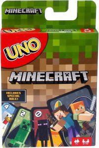 Juego de mesa de Uno Minecraft de Mattel - Los mejores juegos de mesa del UNO - Juego de mesa de cartas, el UNO