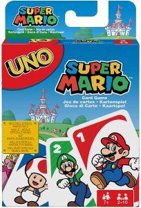 Juego de mesa de Uno Super Mario de Mattel - Los mejores juegos de mesa del UNO - Juego de mesa de cartas, el UNO