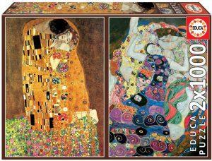 Los mejores puzzles El Beso y La Virgen de Gustav Klimt - Puzzle de 1000 piezas El Beso y La Virgen de Gustav Klimt de Epoca