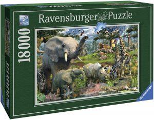 Los mejores puzzles de 10000 piezas o más - Puzzle de Animales en la selva de 18000 piezas de Ravensburger