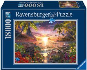 Los mejores puzzles de 10000 piezas o más - Puzzle de Atardecer paradisíaco de 18000 piezas de Ravensburger