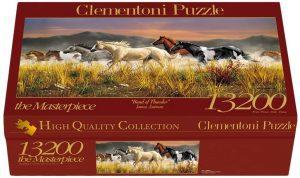Los mejores puzzles de 10000 piezas o más - Puzzle de Caballos de 13200 piezas de Clementoni