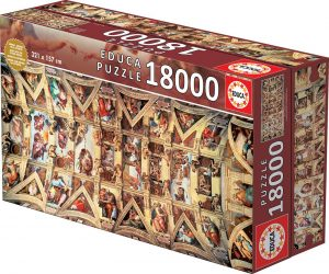 Los mejores puzzles de 10000 piezas o más - Puzzle de Capilla Sixtina de 18000 piezas de Educa