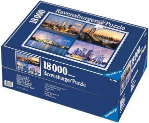 Los mejores puzzles de 10000 piezas o más - Puzzle de Edificios Famosos de 18000 piezas de Ravensburger