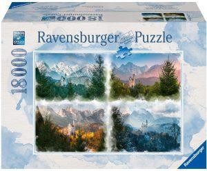 Los mejores puzzles de 10000 piezas o más - Puzzle de Estaciones de 18000 piezas de Ravensburger