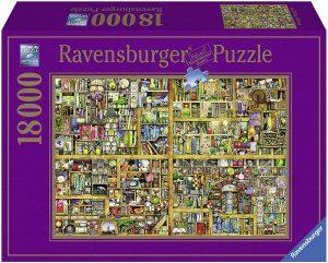 Los mejores puzzles de 10000 piezas o más - Puzzle de Magical Bookcase de 18000 piezas de Ravensburger