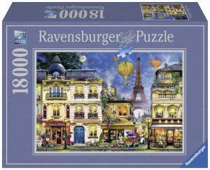 Los mejores puzzles de 10000 piezas o más - Puzzle de Paseo nocturno a Paris de 18000 piezas de Ravensburger