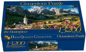 Los mejores puzzles de 10000 piezas o más - Puzzle de los Dolomitas de 13200 piezas de Clementoni