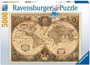 Los mejores puzzles de 5000 piezas - Puzzle de Antiguo mapamundi de 5000 piezas de Ravensburger