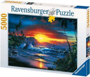 Los mejores puzzles de 5000 piezas - Puzzle de Atardecer en la playa de 5000 piezas de Ravensburger