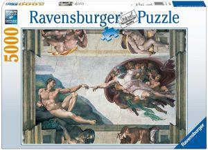 Los mejores puzzles de 5000 piezas - Puzzle de La creación de Adán de 5000 piezas de Ravensburger