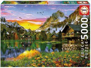 Los mejores puzzles de 5000 piezas - Puzzle de Lago Alpino de 5000 piezas de Educa
