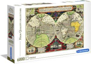 Los mejores puzzles de 6000 piezas - Puzzle de Antiguo mapamundi de 6000 piezas de Clementoni