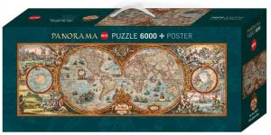 Los mejores puzzles de 6000 piezas - Puzzle de Antiguo mapamundi de 6000 piezas de Heye