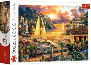 Los mejores puzzles de 6000 piezas - Puzzle de Atardecer junto al mar de 6000 piezas de Trefl