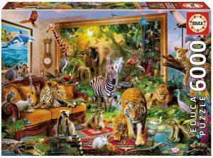 Los mejores puzzles de 6000 piezas - Puzzle de Entrando en la habitación de 6000 piezas de Educa