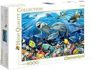 Los mejores puzzles de 6000 piezas - Puzzle de Underwater de 6000 piezas de Clementoni