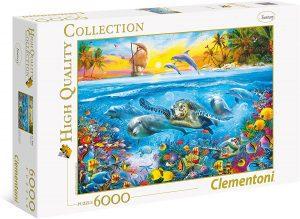 Los mejores puzzles de 6000 piezas - Puzzle de bajo el mar de 6000 piezas de Clementoni