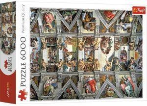 Los mejores puzzles de 6000 piezas - Puzzle de la Capilla Sixtina de 6000 piezas de Trefl