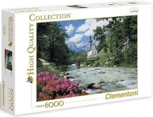 Los mejores puzzles de 6000 piezas - Puzzle de los Alpes de Bavaria de 6000 piezas de Clementoni