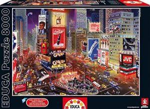 Los mejores puzzles de 8000 piezas - Puzzle de Times Square de 8000 piezas de Educa