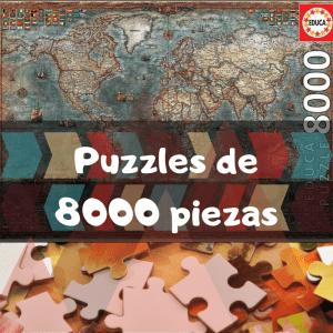 Los mejores puzzles de 8000 piezas - Puzzles grandes de 8000 piezas de Educa, Ravensburger, Clementoni