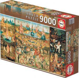 Los mejores puzzles de 9000 piezas - Puzzle de El Jardin de las Delicias de 9000 piezas de Educa