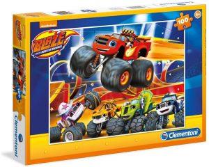 Los mejores puzzles de Blaze y los Monster Machines - Puzzle de Blaze y los Monster Machines de 100 piezas de Clementoni