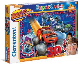 Los mejores puzzles de Blaze y los Monster Machines - Puzzle de Blaze y los Monster Machines de 104 piezas de Clementoni de 3D