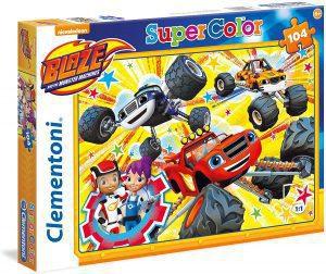 Los mejores puzzles de Blaze y los Monster Machines - Puzzle de Blaze y los Monster Machines de 104 piezas de Clementoni de diseño único