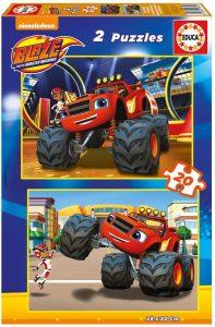 Los mejores puzzles de Blaze y los Monster Machines - Puzzle de Blaze y los Monster Machines de 2x20 piezas de Educa