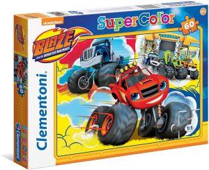 Los mejores puzzles de Blaze y los Monster Machines - Puzzle de Blaze y los Monster Machines de 60 piezas de Clementoni