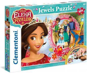 Los mejores puzzles de Elena de Ávalor - Puzzle de Joyas de Elena de Ávalor de 104 piezas de Clementoni