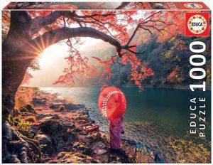 Los mejores puzzles de Geishas - Puzzle de Geisha paseando de 1000 piezas de Educa