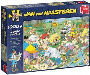Los mejores puzzles de Jan Van Haasteren de Jumbo de 1000 piezas - Puzzle de Camping en el bosque