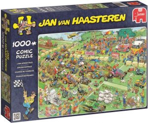 Los mejores puzzles de Jan Van Haasteren de Jumbo de 1000 piezas - Puzzle de Carrera de Cortacésped
