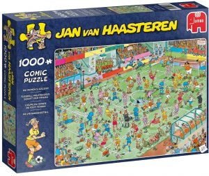 Los mejores puzzles de Jan Van Haasteren de Jumbo de 1000 piezas - Puzzle de Fútbol Femenino