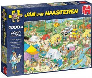 Los mejores puzzles de Jan Van Haasteren de Jumbo de 2000 piezas - Puzzle de Camping en el bosque