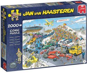 Los mejores puzzles de Jan Van Haasteren de Jumbo de 2000 piezas - Puzzle de Fórmula 1
