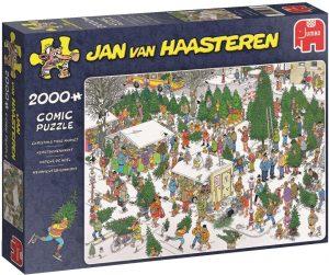 Los mejores puzzles de Jan Van Haasteren de Jumbo de 2000 piezas - Puzzle de Mercado de Navidad