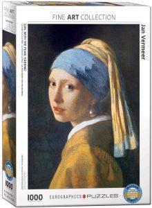 Los mejores puzzles de La joven de la perla de Johannes Vermeer - Puzzle de 1000 piezas de La joven de la perla de Eurographics