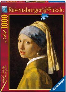 Los mejores puzzles de La joven de la perla de Johannes Vermeer - Puzzle de 1000 piezas de La joven de la perla de Ravensburger