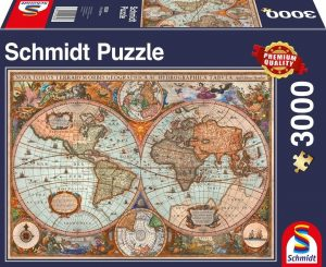 Los mejores puzzles de Mapamundi - Puzzle de Mapa del mundo antiguo de 3000 piezas de Schmidt