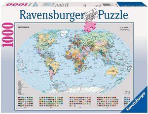 Los mejores puzzles de Mapamundi - Puzzle de Mapa del mundo político de 1000 piezas de Ravensburger