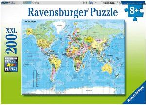 Los mejores puzzles de Mapamundi - Puzzle de Mapa del mundo para niños de 200 piezas de Educa