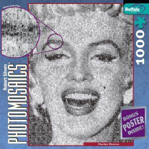 Los mejores puzzles de Marilyn Monroe - Puzzle de Fotomosaico de Marilyn Monroe de 1000 piezas de Buffalo Games